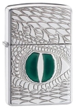 Zippo Armor Dragon Eye Carved High Polish Chrome