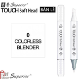 Bút Marker TOUCH SOFT HEAD Lẻ (Đen - Trắng)