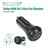 CỦ OTO RAVPOWER TURBO 2USB 40W