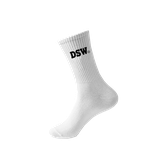 DSW SOCKS LOGO BASIC WHITE