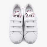 Fila Back Court Deluxe Bold Shiny White And Pink - FILA Việt Nam