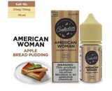 Salt Nic Confection American Woman Apple Bread Pudding 30ml Hàng Chính Hãng USA