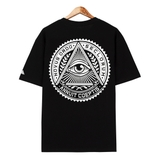 Áo thun flipper OVSZ ILLUMINATI Circle black