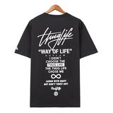Áo thun Thuglife big logo charcoal FT0035