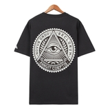 Áo thun flipper OVSZ ILLUMINATI Circle charcoal