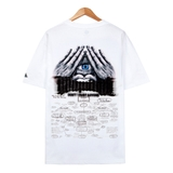 Áo thun illuminati Structure white FT0048