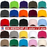[L] Nón lưới 5panel meshcap RED G6(L)08