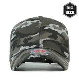 B009 BIG-Mesh plain baseball cap Grey/camo