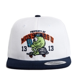FELTICS DISNEY MONSTER MIKE BOARD SNAPBACK WHITE/NAVY