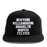 FELTICS NY WILLIAMS BURG SNAPBACK BLACK