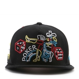 [outlet] Nón hiphop NEON POKER black