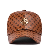 TBP01506 METAL LOGO PATTERN BROWN