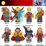 Lego Minifigures Marvel Các Nhân Vật Thor Iron Man Captian Ant Man War Machine Wasp WM6063 WM717 WM718 WM719 WM720 WM721