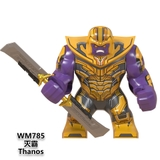 Lego Minifigures Marvel DC Các Mẫu Nhân Vật Thanos Ironman Black Panther War Machine Doctor Stranger WM6072
