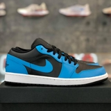 NIKE AIR JORDAN 1 LOW 'LASER BLUE BLACK'