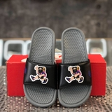 NIKE BENASSI JDI PRINT SLIDE 'HIKER CARTOON - BLACK GREY'