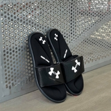 UNDER ARMOUR SLIDE 'BLACK WHITE'