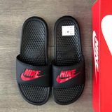 Nike Benassi JDI Sandals Black Red