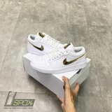 Nike Jordan 1s Low White Metallic