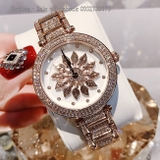 Đồng Hồ Nữ Davena 61085 Rose Gold Mặt Hoa Xoay 38mm Authentic