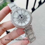 Đồng Hồ Nữ Davena 61085 Silver Mặt Hoa Xoay 38mm Authentic