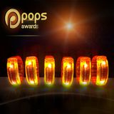 In tem logo pops awards dán vòng tay led
