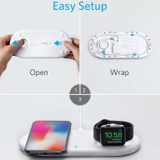 DOCK sạc 2 in 1 PowerWave+Pad with Watch Holder hàng chính hãng ANKER