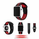 Dây cao su Sport sọc 2 màu thể thao full size cho Apple Watch