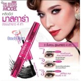 Mascara 4D 2 in 1 Mistine Super model Miracle Lash -Thái Lan