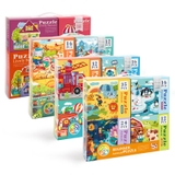 Set Puzzle 4 in 1 Mideer- Chủ Để Animal