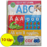 Ready Set Learn Wipe Clean Workbooks (bộ 10 tập kèm bút)
