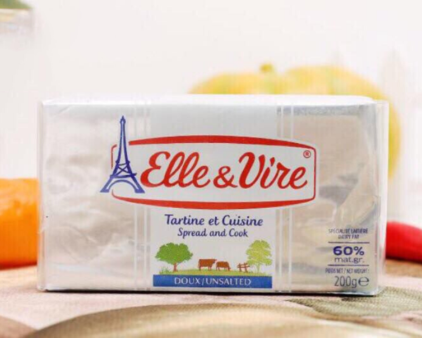 Bơ lạt 60% béo Elle & Vire 200g