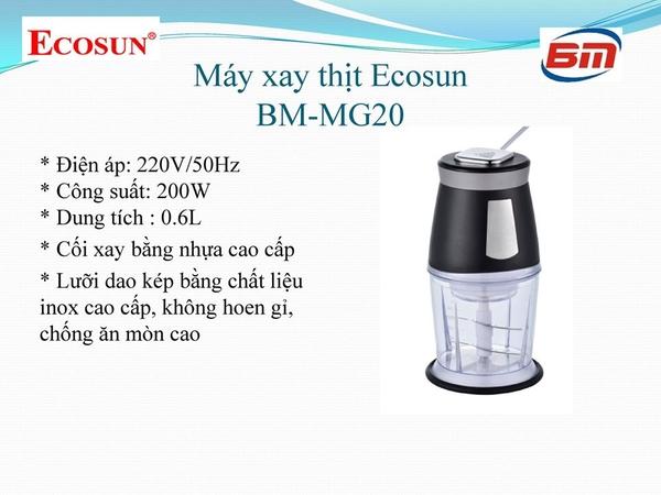Máy xay Thịt Ecosun BM-MG20 0,6L