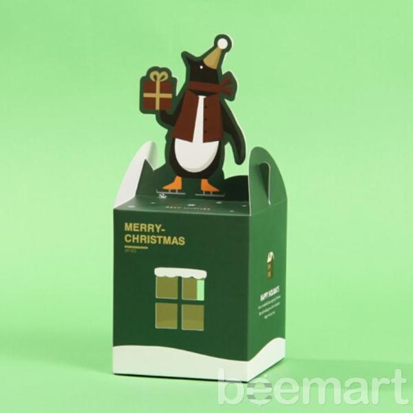 Hộp quà noel hình ngôi nhà chim cánh cụt 2
