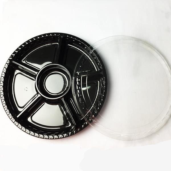 Hộp nhựa đế đen 6 ngăn đựng mứt 2