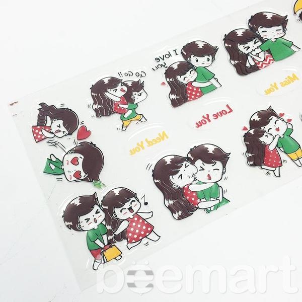Khuôn socola 2D 16 hình đôi nam nữ kiss you 1