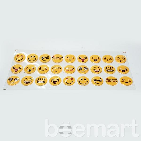 Khuôn socola 2D 27 hình icon mặt cười 2