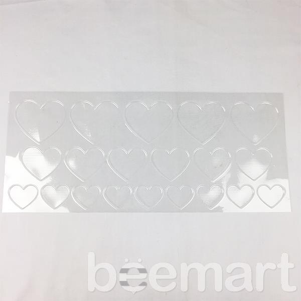 Khuôn socola nhựa 20 hình trái tim lớn nhỏ 3