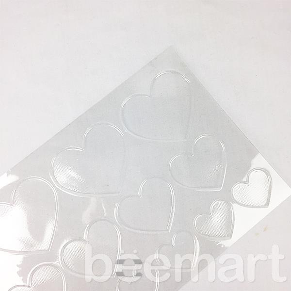 Khuôn socola nhựa 20 hình trái tim lớn nhỏ 2