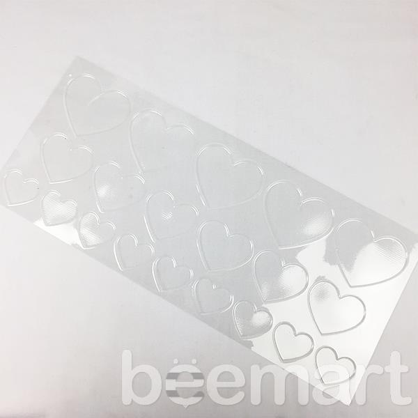 Khuôn socola nhựa 20 hình trái tim lớn nhỏ 1