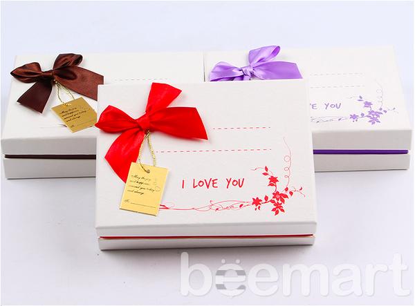 Hộp đựng socola chữ nhật 12 ô I Love You 3