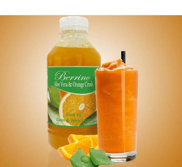 Sinh tố cam và nha đam (Aloe vera & orange crush) Berrino 1L 2