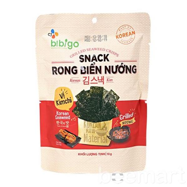 Snack rong biển nướng Bibigo vị Kimchi 10gr