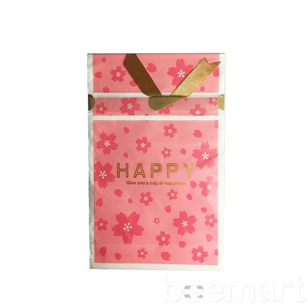Túi đựng bánh cookies dây buộc Happy (10c) 1