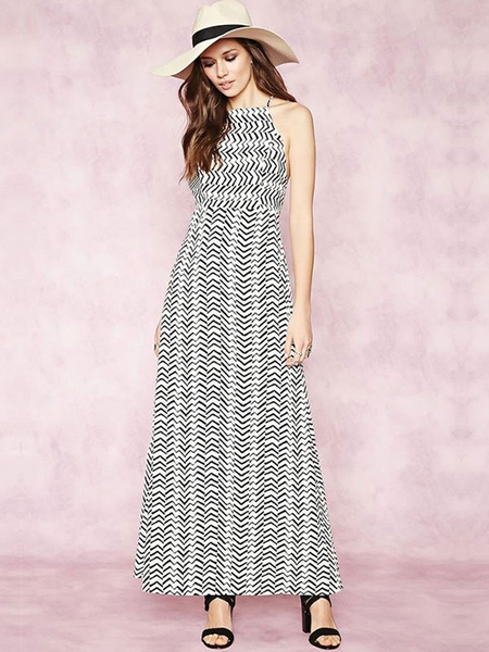 Contemporary Zigzag Maxi Dress Forever 21