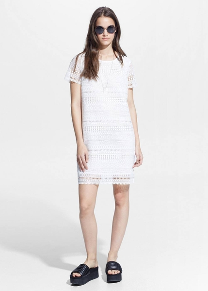 GEOMETRIC-PATTERN OPENWORK DRESS MANGO