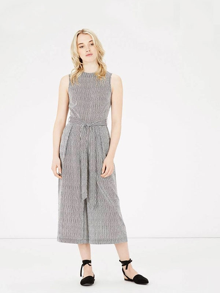 STRIPE CULOTTE JUMPSUIT WAREHOUSE
