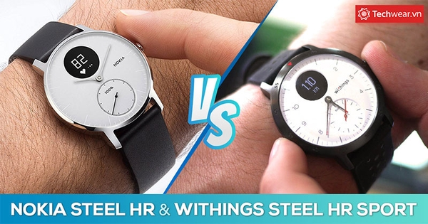 So sánh Nokia Steel HR và Withings Steel HR Sport