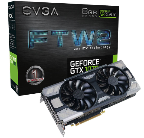 VGA EVGA GeForce GTX1070 FTW2 GAMING 8GB GDDR5