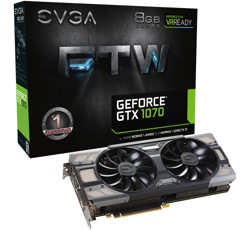 VGA EVGA GeForce GTX1070 FTW GAMING 8GB GDDR5